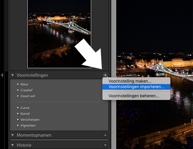 hoe installeer ik presets in lightroom