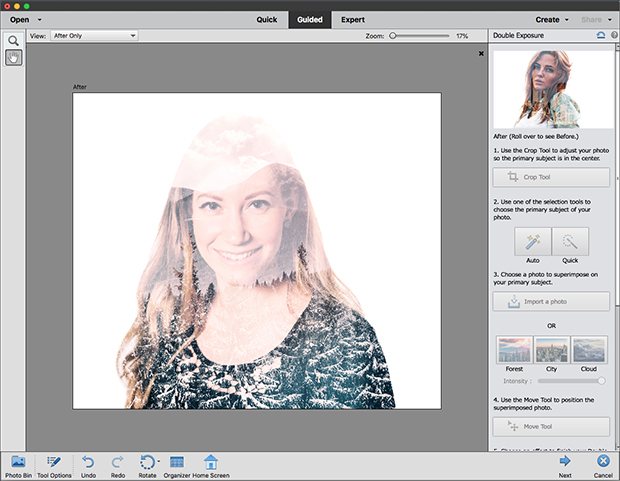 Guided opties in Adobe Photoshop Elements 2019