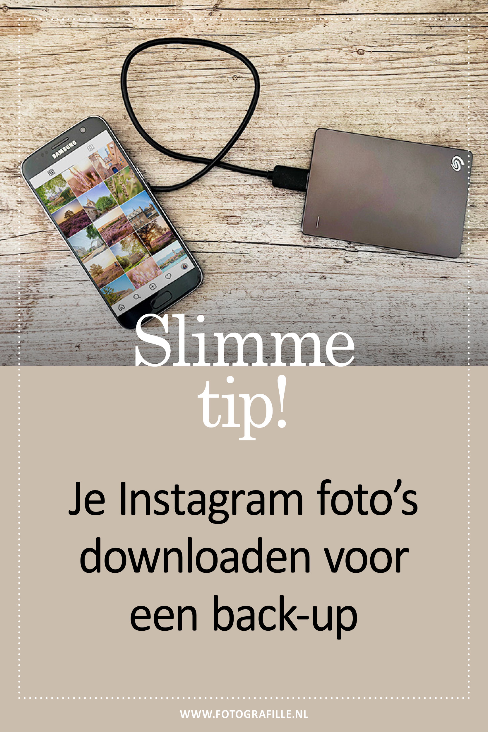 back-up maken van je instagram foto's