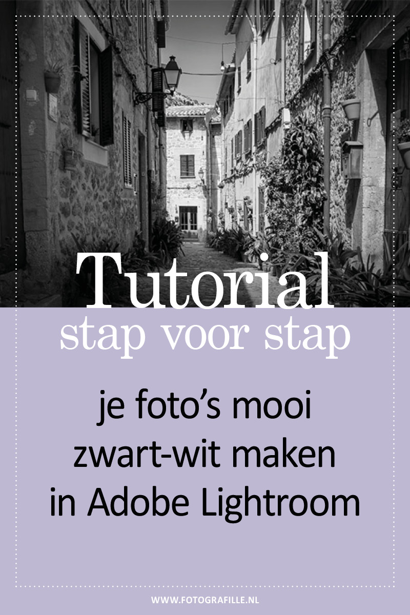 foto zwart-wit in Lightroom