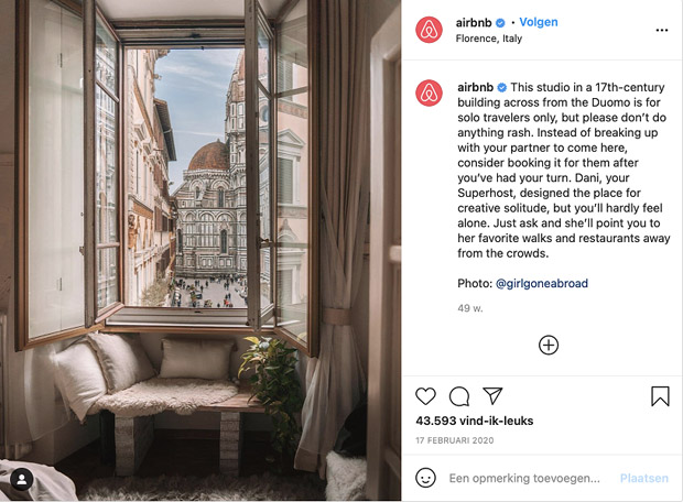 Instagram-proof Airbnb accommodaties